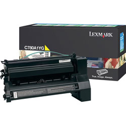 Lexmark C780A1YG Return Program Standard Yellow Toner Cartridge, 6,000 Pages