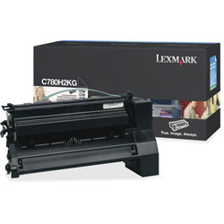 Lexmark C780H2KG High-Yield Toner, 10,000 Page-Yield, Black