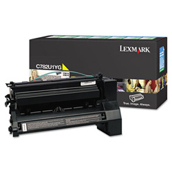 Lexmark C782U1YG Extra High-Yield Toner, 16500 Page-Yield, Yellow