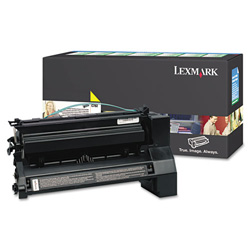 Lexmark C782X4YG Extra High-Yield Toner, 15000 Page-Yield, Yellow