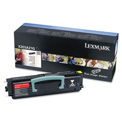Lexmark X203A11G Toner, 2500 Page-Yield, Black