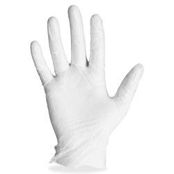 Layflat Vinyl Gloves, Powdered, Small , 4 mil, 100/BX, Clear