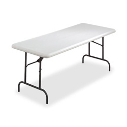 "Lorell Folding Table, 600 Lb Capacity, 72""x30""x29 1/2"", Platinum"