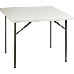 "Lorell Banquet Folding Table, 250 lb Capacity, 36"" x 29"" x 36"", Platinum"