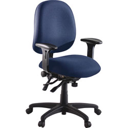 Lorell Swivel Task Chair, Blue