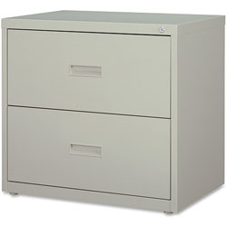 "Lorell 2 Drawer Metal Lateral File Cabinet, 30""x18-5/8""x28-1/8"", Gray"