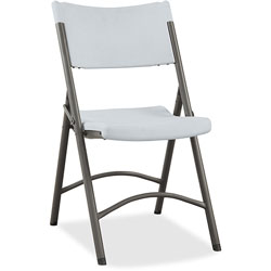 "Lorell Folding Chair, 18-1/2""x21-7/8""x33-1/8"", 4/Carton, Platinum"
