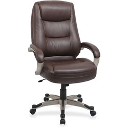 "Lorell Westlake Series High Back Executive Chair, 26-1/2"" x 28 1/2"" x 47-1/2"", Saddle Leather"