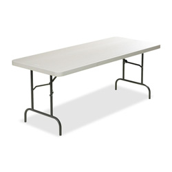 "Lorell Table, Banquet, 1"" Steel Legs, 96""x30""x29"", Platinum"