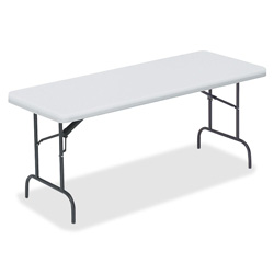 "Lorell Table, Banquet, 1"" Steel Legs, 72""x30""x29"", Platinum"