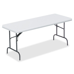 "Lorell Table, Banquet, 1"" Steel Legs, 60""x30""x29"", Platinum"
