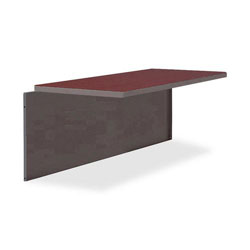 "Lorell Durable Bridge, 48"" x 24"", Mahogany/Charcoal"