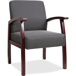 "Lorell Guest Chairs, 24""x25""x35-1/2"", Mahogany/Charcoal"