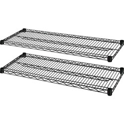 "Lorell Extra Shelves for Wire Shelving, 48"" x 24"", Black"