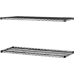 "Lorell Industrial Extra Shelves for Wire Shelving, 48"" x 18"", Black"