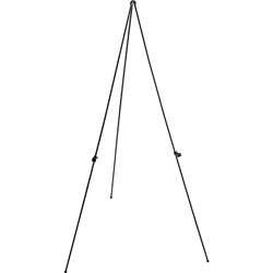 "Lorell Lightweight Folding Easel with adjustable Holder, 31""x31""x63"", Black"