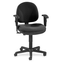 Lorell Swivel Task Chair, Black