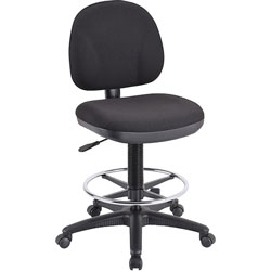 "Lorell Adjustable Multi Task Stool, 23 1/2"" WX24 1/2"" DX38"" 48"" H, Black"