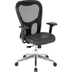 "Lorell Executive High-Back Chair, 24-7/8""x23-5/8""x44-1/8"", Black"