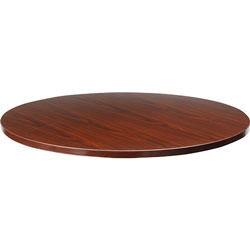 "Lorell 87000 Series Conference Table Top, 42""D, Mahogany"