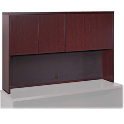 "Lorell Stack-on Storage, 60"" x 14"" x 39"", Mahogany"
