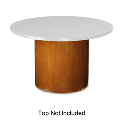 "Lorell Base for Round Table Tops, 22"" x 22"" x 27-1/2"", Cherry"