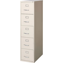 Lorell 5-Drawer Vertical File Cabinet, Putty