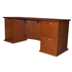 "Lorell Credenzas, Right Pedestal, 72""x24""x29"", Honey Cherry"