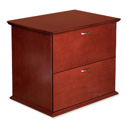 "Lorell Two Drawer Lateral Files, 33""x24""x29"", Mahogany"