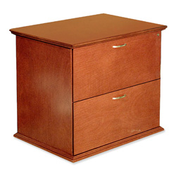 "Lorell Two Drawer Lateral Files, 33""x24""x29"", Honey Cherry"