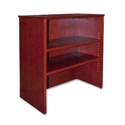 "Lorell Bookcase Hutch For Lateral Files, 33""x16""x36-1/2"", Mahogany"