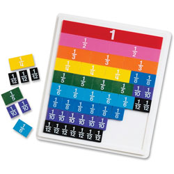 Learning Resources Rainbow Fraction Tiles w/Tray