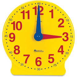 Learning Resources Big Time Learning Clocks 12 Hour Demonstration Clock