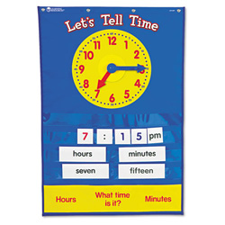 "Learning Resources Teaching Time Pocket Chart with 67 Cards, 23"" w x 34"" h"