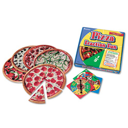 Learning Resources Pizza Fraction Fun Game, Grades 1 And Up