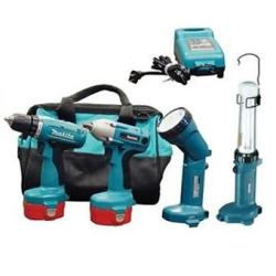 Makita 14.4 Volt Combination Kit - Driver Drill, Impact Wrench, Lights, and Durable Tote