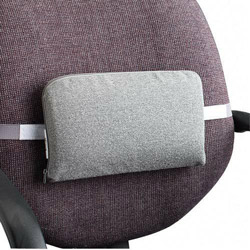 Master Caster The Comfortmakers Adjustable Lumbar Support Cushion, 12.5wx2.5dx7.5h, Gray