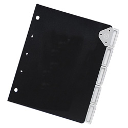 Master Products Slip Lock Index Tabs, Black