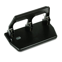 "Master Pro Master Mfg® 40 Sheet Capacity Heavy Duty 3 Hole Punch with Gel Pad Handle, 9/32"" Dia., Black"