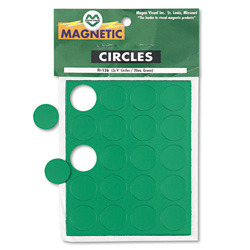 "Magna Visual Magnetic Circles, 3/4"" Diameter, Green, 20/Pack"