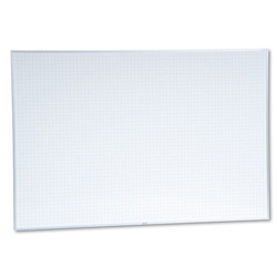 Magna Visual Schedule Planning Board with 1 x 1 Grid, 72w x 48h, Aluminum Frame