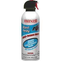 Maxell Canned Air, Nonflammable, 10 oz.