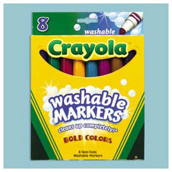 Binney and Smith Washable Markers, Tropical Colors