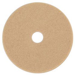 3M Ultra High-Speed Floor Burnishing Pads 3400, 19-Inch, Tan