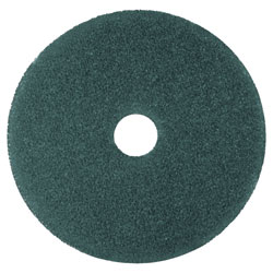 "3M Low-Speed High Productivity Floor Pads 5300, 14"" Diameter, Blue, 5/Carton"