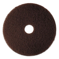"3M 17"" Brown Stripper Floor Pads"