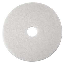 "3M 15"" White Super Polish Floor Pads"