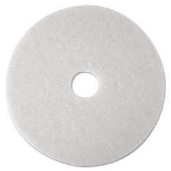 "3M 21"" White Super Polish Floor Pads"