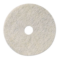 "3M 17"" Natural Blend White Floor Pads"