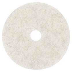 "3M Ultra High-Speed Natural Blend Floor Burnishing Pads 3300, 19"" Dia., White, 5/CT"